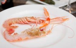 Corte do lagostim ao meio Imagens de Stock Royalty Free