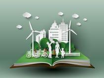 Corte do papel do eco ilustração do vetor