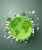 Corte do papel do eco ilustração royalty free
