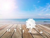 Corte do papel do jogo de crianças nas horas de verão no fundo branco Imagens de Stock