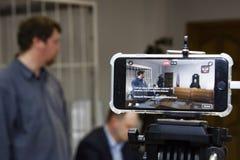 A corte do russo julga o delinquente fotografia de stock