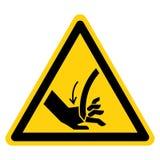 Corte do sinal curvado mão do símbolo da lâmina, ilustração do vetor, isolado na etiqueta branca do fundo EPS10 ilustração do vetor