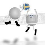 Corte e luta de voleibol Fotografia de Stock Royalty Free