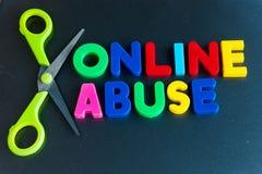 Corte el abuso en línea Imágenes de archivo libres de regalías
