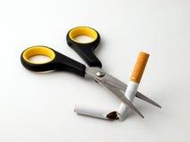 Corte el cigarrillo Imagen de archivo libre de regalías