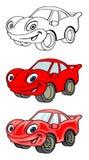 Corte el coche de competición Imagenes de archivo