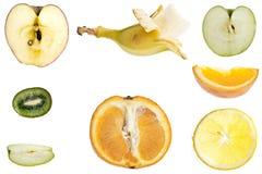 Corte el collage de las frutas Foto de archivo