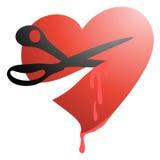 Corte el corazón Foto de archivo libre de regalías