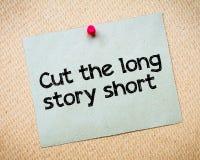 Corte el cortocircuito largo de la historia Fotografía de archivo libre de regalías