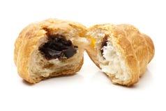 Corte el Croissant abierto Fotografía de archivo