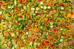 Corte el melón amargo Imagen de archivo