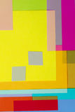 Corte el papel coloreado 12 Imágenes de archivo libres de regalías