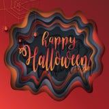 Corte el papel Halloween Imagen de archivo