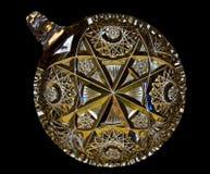 Corte el plato cristalino del caramelo Fotografía de archivo libre de regalías