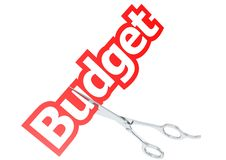 Corte el presupuesto Imágenes de archivo libres de regalías