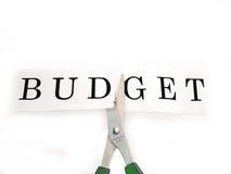 Corte em o orçamento Imagens de Stock Royalty Free