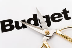 Corte em o orçamento Fotografia de Stock Royalty Free