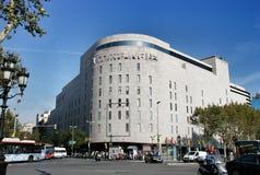 Corte Engles Placa de Catalunia, Βαρκελώνη Ισπανία Στοκ εικόνα με δικαίωμα ελεύθερης χρήσης