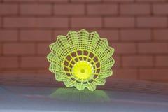 Corte exterior da peteca plástica do badminton Foto de Stock Royalty Free