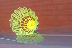 Corte exterior da peteca plástica do badminton Imagem de Stock Royalty Free