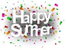 Corte feliz del papel de tarjeta de felicitación del verano Imágenes de archivo libres de regalías