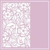 Corte floral   cartão Fotos de Stock Royalty Free