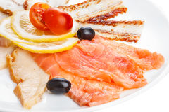 Corte frio dos peixes Imagem de Stock Royalty Free