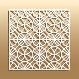 Corte geométrico del laser stock de ilustración
