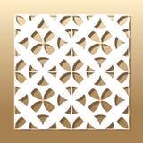 Corte geométrico do laser Imagens de Stock Royalty Free
