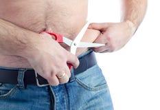 Corte a gordura Fotos de Stock Royalty Free