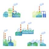 Corte a ilustração das fábricas Imagem de Stock Royalty Free