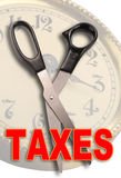 Corte impostos Fotografia de Stock