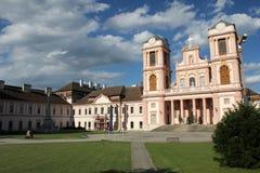 Corte interior de la abadía de Gottweig - abadía de Wachau Imagenes de archivo