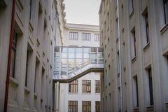 Corte interior en la academia de los estudios económicos ASE foto de archivo libre de regalías