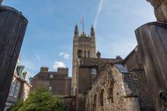 Corte interna de la abadía de Westminster con Victoria Tower en el fondo Imagen de archivo