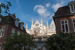 Corte interna de la abadía de Westminster a finales de octubre Imagen de archivo