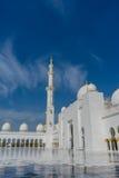 Corte interna en la mezquita magnífica Sheikh Al Zayed en Abu Dhabi Imagen de archivo