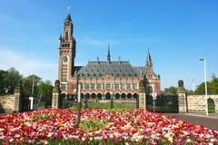 Corte Internazionale di Giustizia ICJ del palazzo di pace Fotografia Stock Libera da Diritti