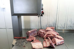 Corte la carne de cerdo Foto de archivo