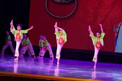 Corte la exposición de enseñanza de clasificación Jiangxi del logro de los niños de la prueba de la academia de la danza de Pekín fotos de archivo