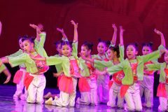 Corte la exposición de enseñanza de clasificación Jiangxi del logro de los niños de la prueba de la academia de la danza de Pekín fotografía de archivo libre de regalías