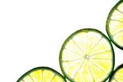 Corte la fruta aislada del limón de la fruta cítrica Foto de archivo