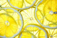 Corte la fruta aislada del limón de la fruta cítrica Fotografía de archivo libre de regalías