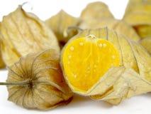 Corte la fruta de la tierra-cereza Fotos de archivo