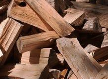 Corte la madera en un montón Imagen de archivo libre de regalías