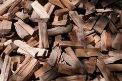 Corte la madera en una pila Fotos de archivo