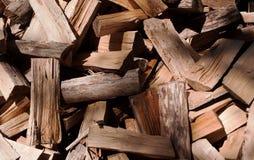 Corte la madera que se apilará Fotos de archivo libres de regalías