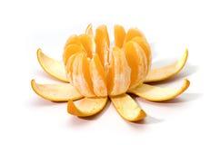 Corte la naranja Fotos de archivo
