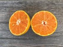 Corte la naranja Imagen de archivo