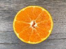 Corte la naranja Foto de archivo libre de regalías